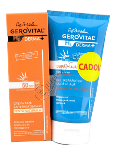 Геровитал Sun H3 Дерма промо пакет антивозрастной крем для лица SPF 50+ регенерирующий гель после за