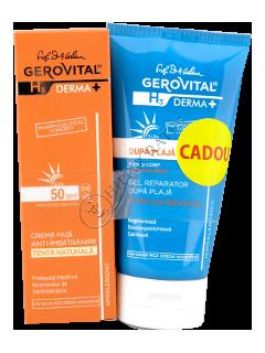 Gerovital Sun H3 Derma+ Pachet promo crema fata antimbatrinire SPF 50+gel reparator dupa plaja