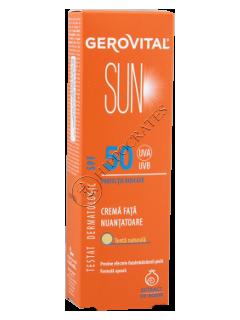 Gerovital Sun Crema fata Nuantatoare SPF 50