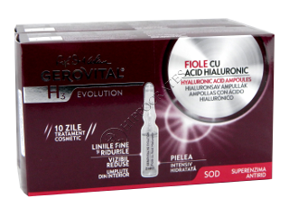 Gerovital H3 Evolution Pachet Promo fiole acid hialuronic +fiole acid hialuronic