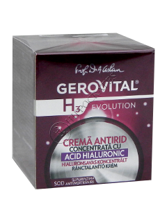 Gerovital H3 Evolution Crema Antirid cu acid hialuronic