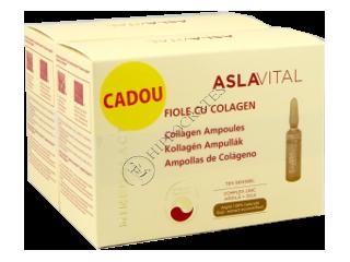 Aslavital Mineralactiv Pachet Promo fiole cu colagen +fiole cu colagen