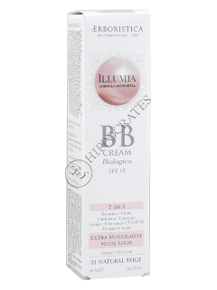 Атенас Illumia Organic BB crema Col.01 Natural Бежевый SPF 15