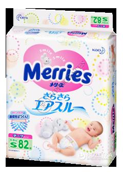 MERRIES Size S  №82 4-8 kg (SJ) scutece