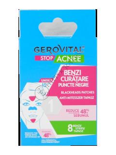 Gerovital Stop Acnee benzi curatare puncte negre 8 pcs