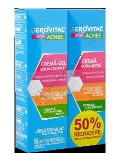 Геровитал Стоп Акне  промо пакет крем-гель себоконтроль +  крем ультра-активный