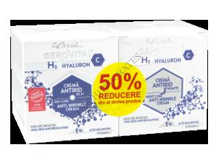 Геровитал H3 Hyaluron С Промо-пакет Дневной крем против морщин 50мл + ночной крем против морщин 50мл