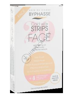 Бифаз депиляционные полоски для лица и деликатных зон для чувствительной кожи (20+4)