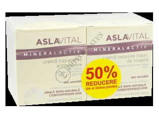 Аславитал Mineralactiv Промо Пакет увлажняющий крем против загрязнения SPF10, 50мл+крем для разглаж.