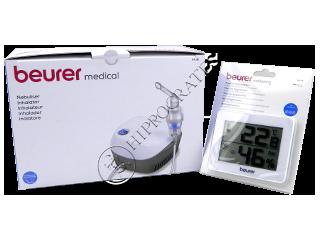 Beurer Promo pachet (inhalator+higrometru cadou) IH18+HM16