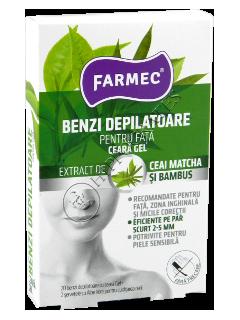 Фармек депиляционные полоски для лица чай+бамбук (20 полосок+2 салфетки)