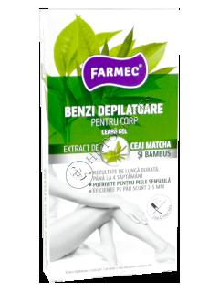 Фармек депиляционные полоски для тела чай+бамбук (16 полосок+2 салфетки)
