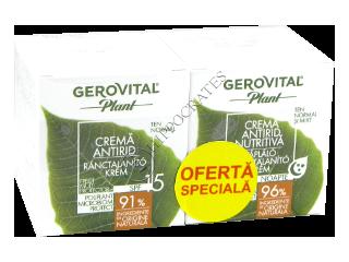 Геровитал Plant Промо Пакет крем против морщин SPF 15, 50 мл + питательный крем против морщин