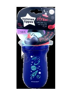 ТТ Чашка Explora с трубочкой изотерма (12+) 260 мл TT0075-2-синий