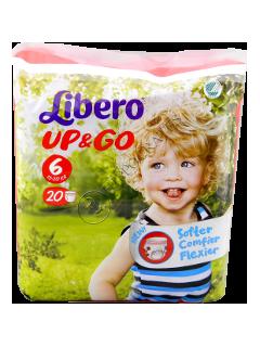 Либеро UP & GO XL 13-20 kg подгузники № 20