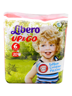 Libero UP & GO XL 13-20 kg scutece № 20