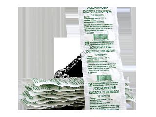 Аскорбиновая кислота с глюкозой (витамин С)