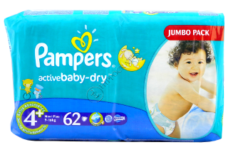 Pampers Maxi+ 4+ № 62  9-16 kg