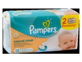 Памперс Baby Naturally Clean салфетки влажные с ромашкой № 2 x 64