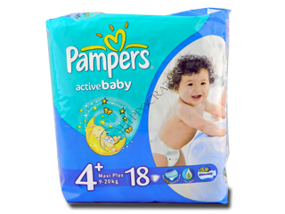 Pampers Maxi+ 4+ № 18 9-16 kg